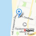 Бульвар на карте Архангельска