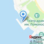 Пеликан на карте Архангельска