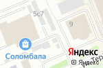Схема проезда до компании Двери для вас в Архангельске
