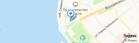 Управление МВД России по Архангельской области на карте Архангельска