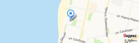 Роллеры Архангельска на карте Архангельска