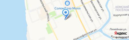 Каскад Вин на карте Архангельска