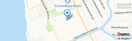 Латте на карте Архангельска