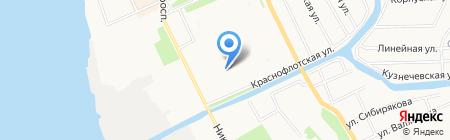 Средняя общеобразовательная школа №50 на карте Архангельска