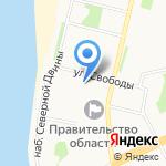 Агентство по спорту Архангельской области на карте Архангельска