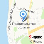 Агентство по печати и СМИ Архангельской области на карте Архангельска
