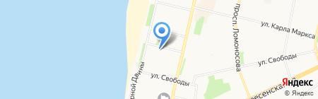 Анровъ на карте Архангельска