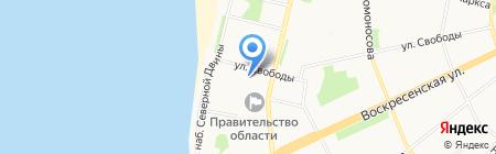 Министерство по делам молодежи и спорту Архангельской области на карте Архангельска