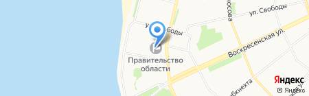Департамент международных связей и государственного протокола на карте Архангельска