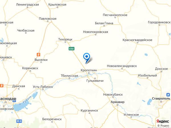хутор Восточный на карте