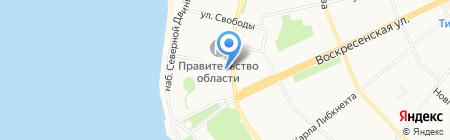 Магазин книг на Троицком проспекте на карте Архангельска