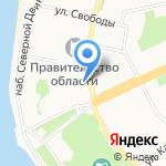 Архангельский почтамт на карте Архангельска