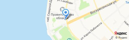 Управление Федеральной службы по надзору в сфере связи на карте Архангельска