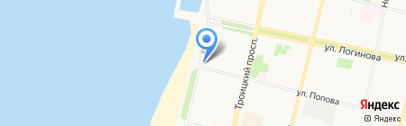 Детская школа искусств №42 на карте Архангельска