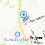 Архангельский мясокомбинат на карте Архангельска