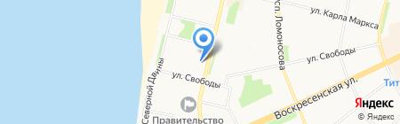 Банкомат Северный банк Сбербанка России на карте Архангельска