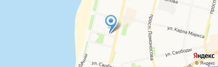 Архкомхоз на карте Архангельска