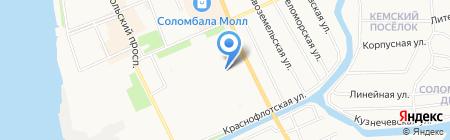 Детский сад №167 Улыбка на карте Архангельска