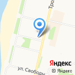 Золотица на карте Архангельска