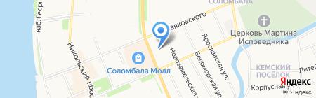 Отдел полиции №5 на карте Архангельска