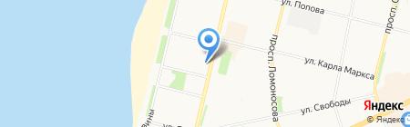 Бухгалтерско-юридическая компания на карте Архангельска