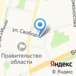 Архангельское областное Собрание депутатов на карте Архангельска