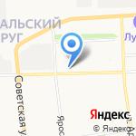 Любимый на карте Архангельска