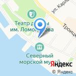 Особняк на набережной на карте Архангельска