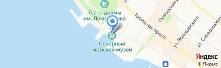 Северный Морской музей на карте Архангельска