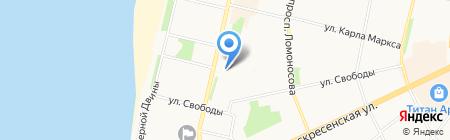 Новый Уютный Дом на карте Архангельска