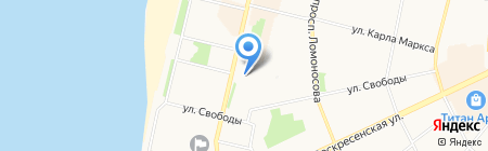 Вэртас-Поморье на карте Архангельска