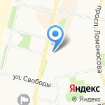 Ангел на карте Архангельска