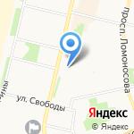 Фламинго на карте Архангельска