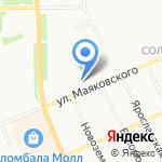 Книжная пристань на карте Архангельска