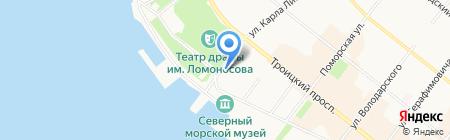 УФК на карте Архангельска
