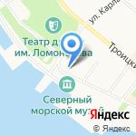 Почтовая Контора 1786 г. на карте Архангельска