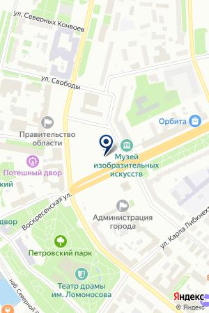 ONEAERO.RU на карте Архангельска