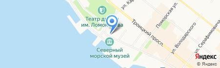 Кенозерский национальный парк на карте Архангельска