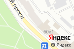 Схема проезда до компании Блин Хаус в Архангельске