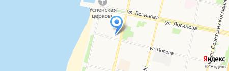Крепмастер на карте Архангельска
