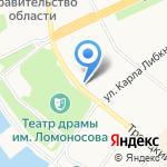 Птица-рыба на карте Архангельска