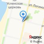 Панорама на карте Архангельска