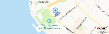 Ив Роше на карте Архангельска