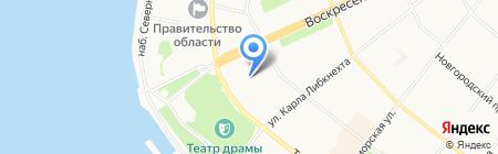 Отдел по внешним связям и туризму Мэрии г. Архангельска на карте Архангельска