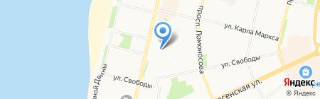 Детский сад №119 Поморочка на карте Архангельска