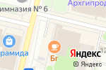 Схема проезда до компании Bellezza в Архангельске