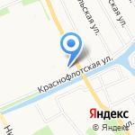 Линда на карте Архангельска