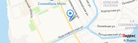 Русский фейерверк на карте Архангельска
