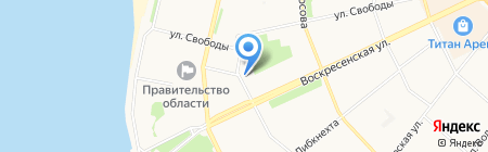 Архангельский областной музей изобразительных искусств на карте Архангельска