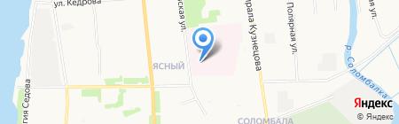 Родильный дом на карте Архангельска